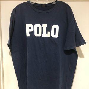 Vintage polo Ralph Lauren spell out shirt xl USA